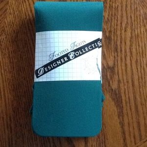 Designer Collection Accessories - Footed hunter green tights
